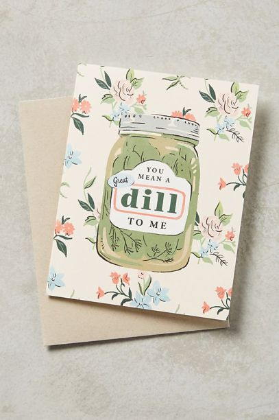 Dill pickle Vday card