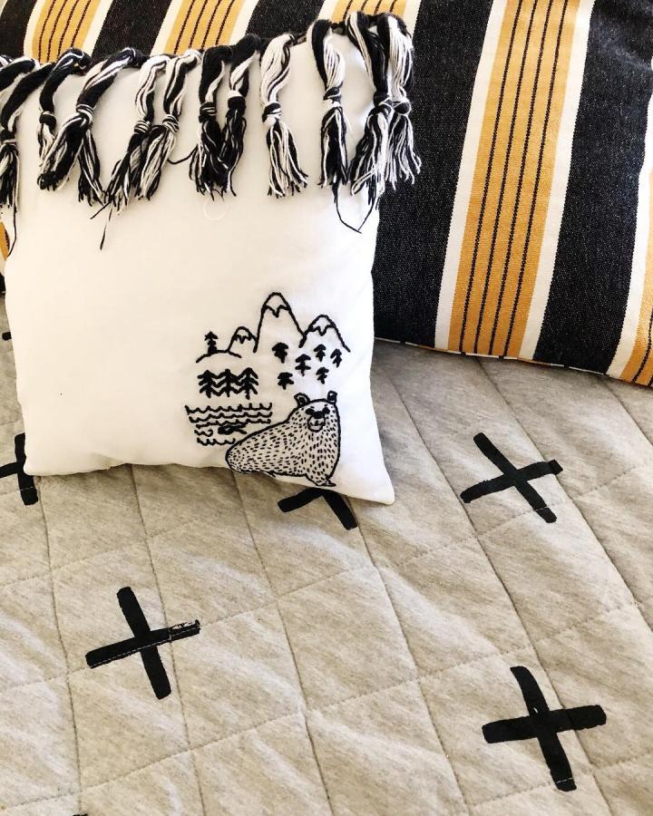 Bearpillow on bed