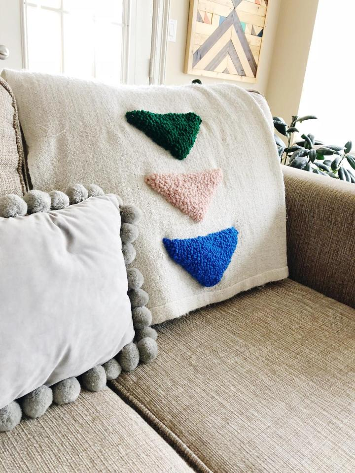 Punch Needle Triangle Blanket