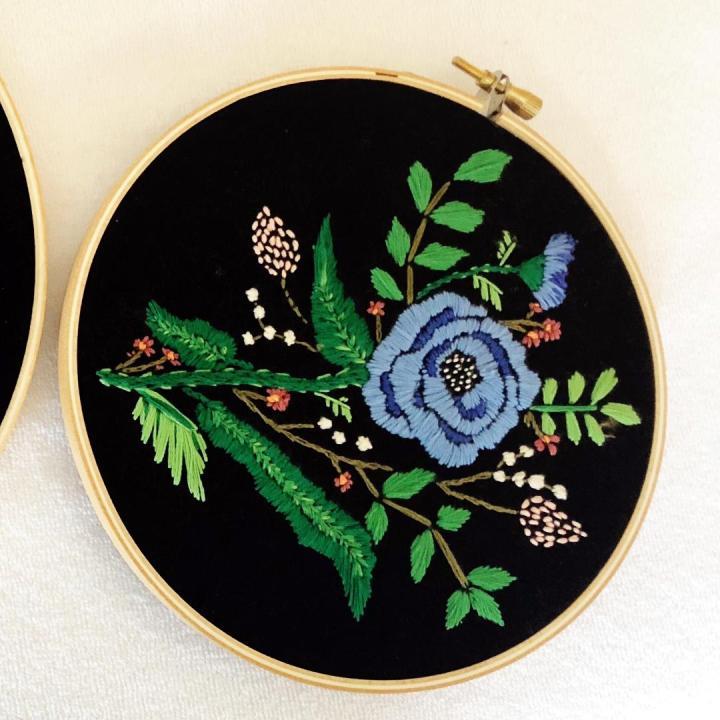 Midnightfloral blue